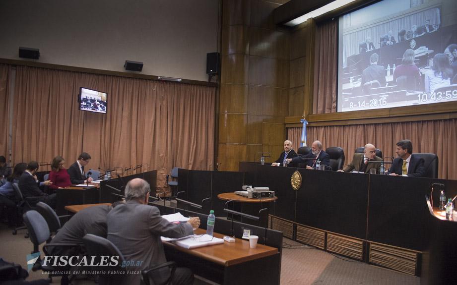 La audiencia se llevó a cabo en la Sala AMIA. - Fotos: Claudia Conteris/Ministerio Público Fiscal/www.fiscales.gob.ar