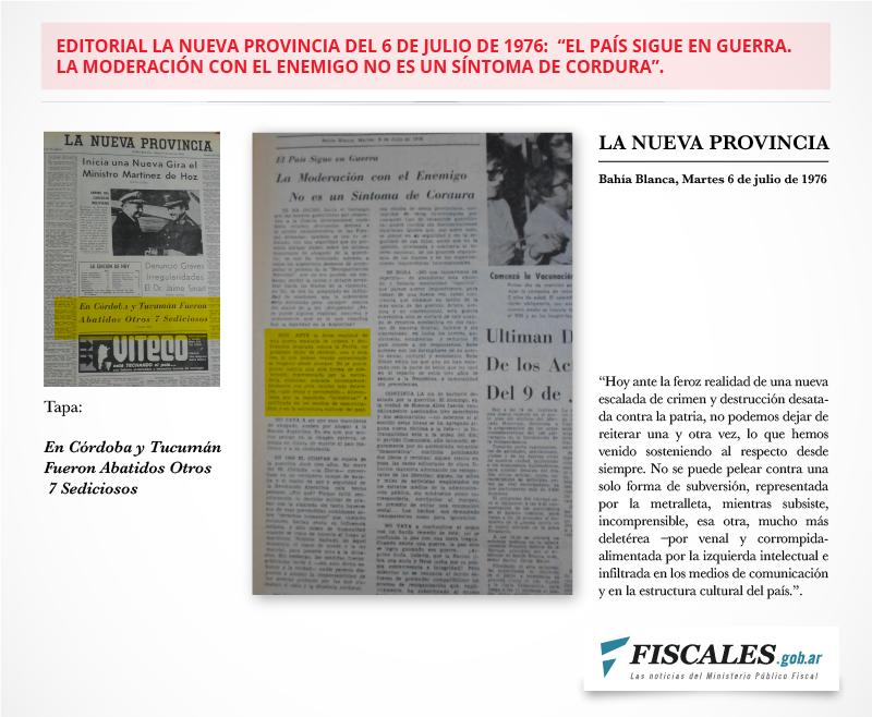 La editorial de La Nueva Provincia y la tapa donde nada dice del asesinato de Heinrich y Loyola