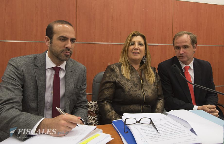 Gaset, Scandura y García Elorrio, durante la audiencia en la que se condenó a los ex funcionarios. - Foto: Claudia Conteris/Ministerio Público Fiscal/www.fiscales.gob.ar