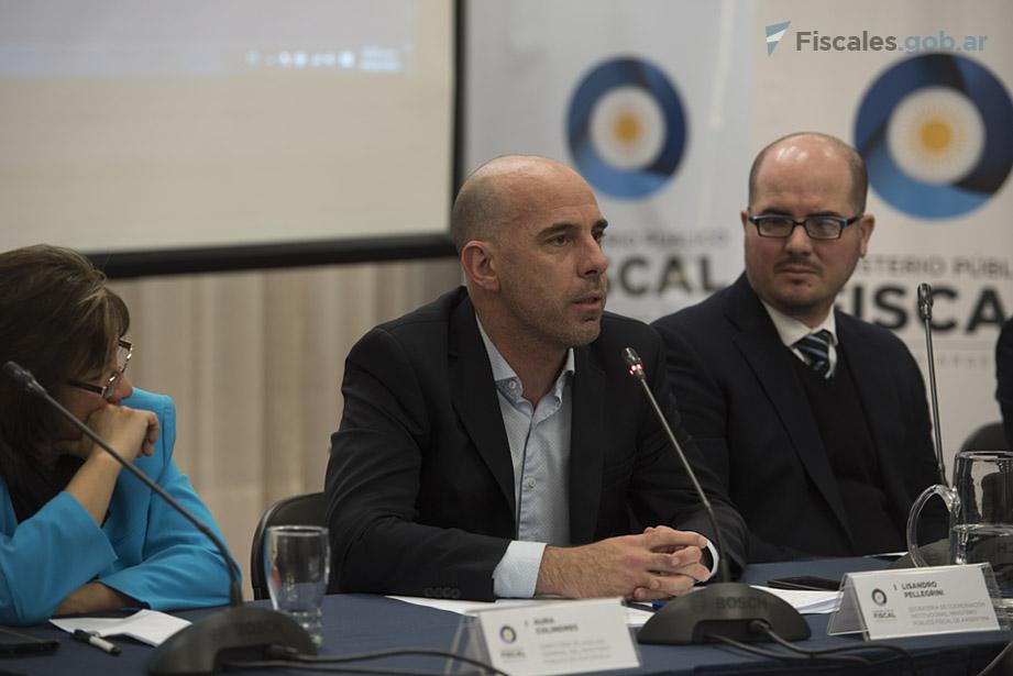 """Pellegrini: """"Es imposible la persecución penal sin información"""". - Fotos: Claudia Conteris/Ministerio Público Fiscal/www.fiscales.gob.ar"""