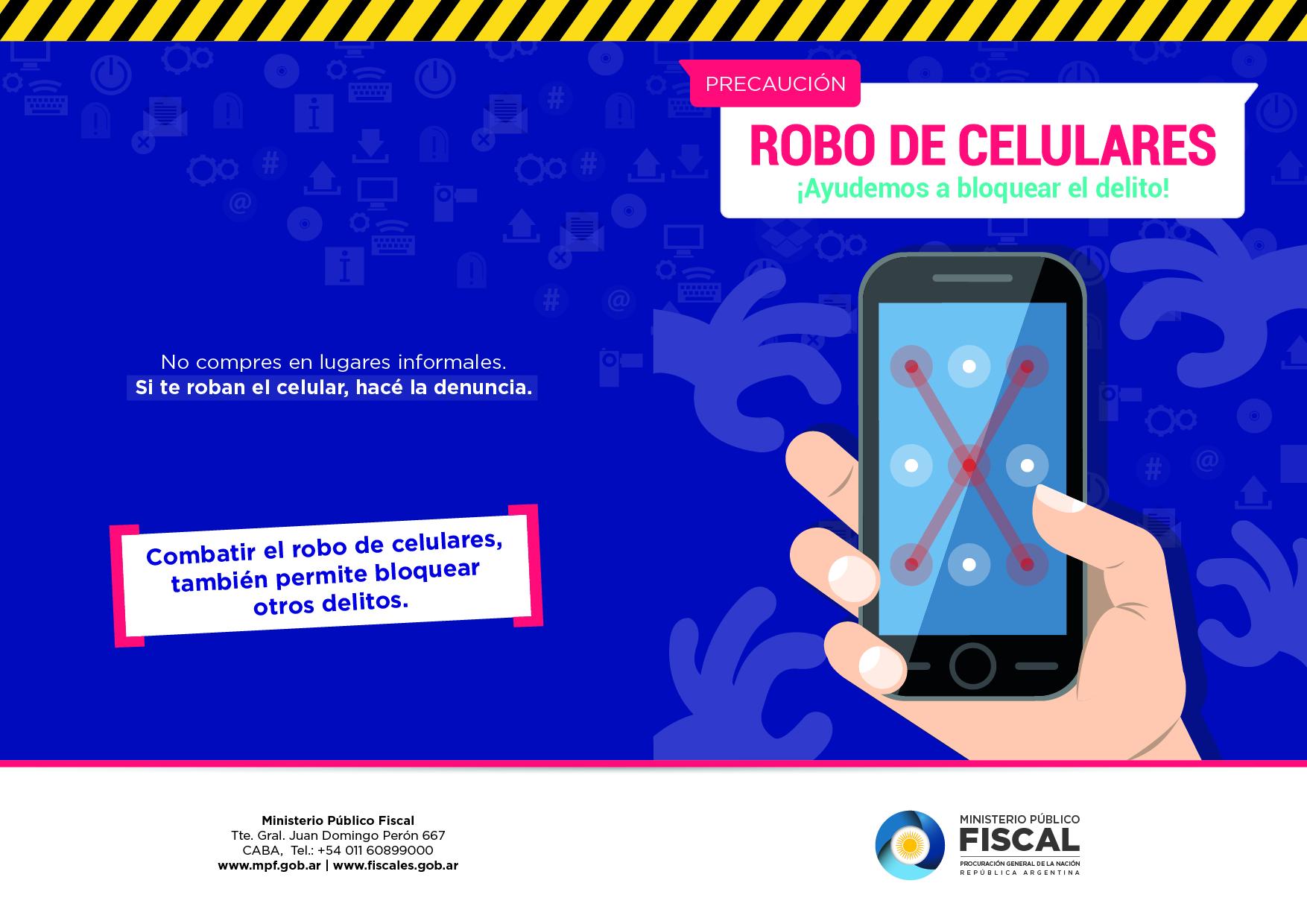 e26d6e244a Robo de celulares  recomendaciones del MPF frente a esta modalidad  delictiva