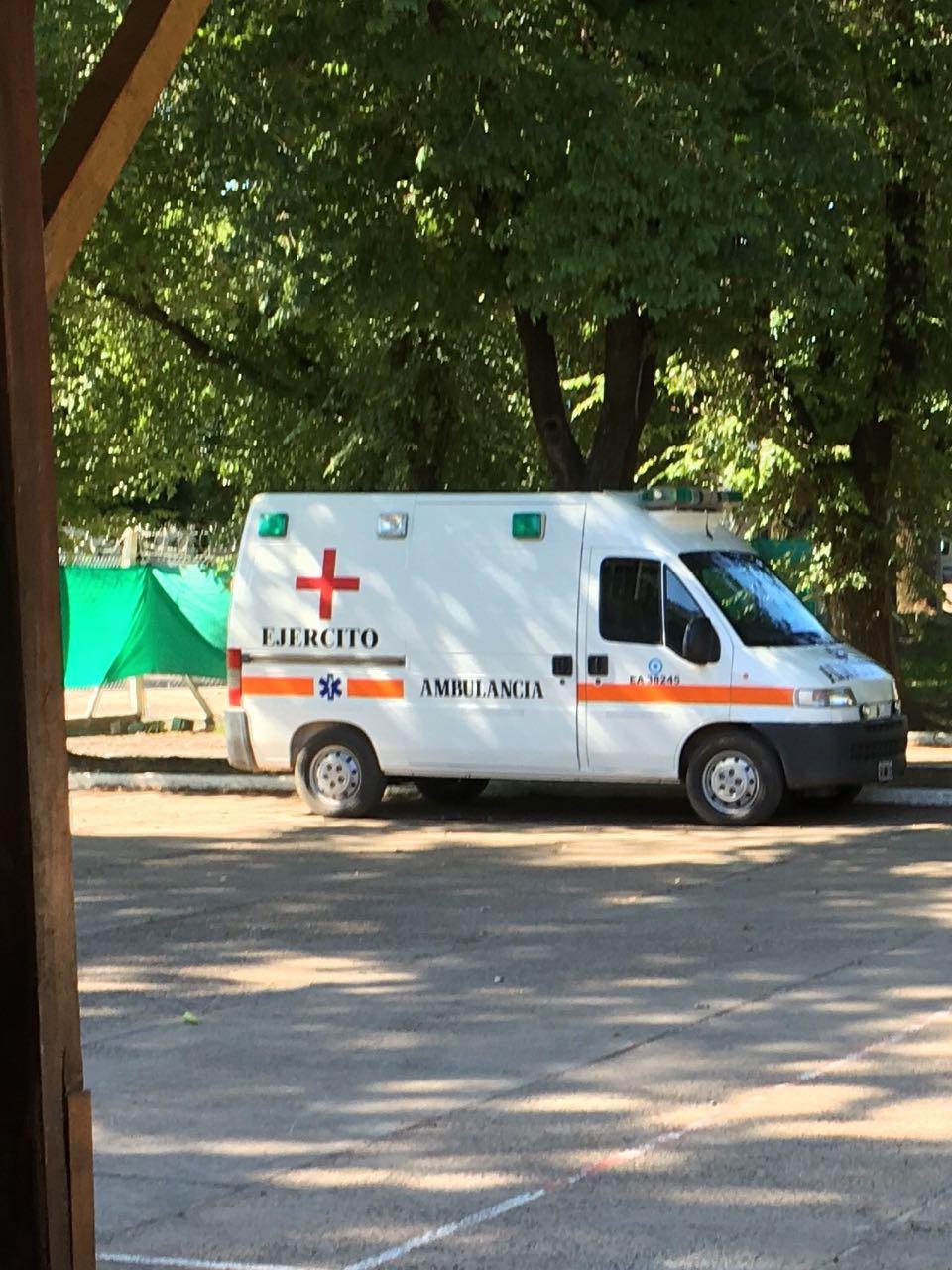 La Fiscalía puntualizó que la ambulancia para atender a detenidos a disposición del Servicio Penitenciario Federal es del Ejército. - Foto: Procuraduría de Crímenes contra la Humanidad