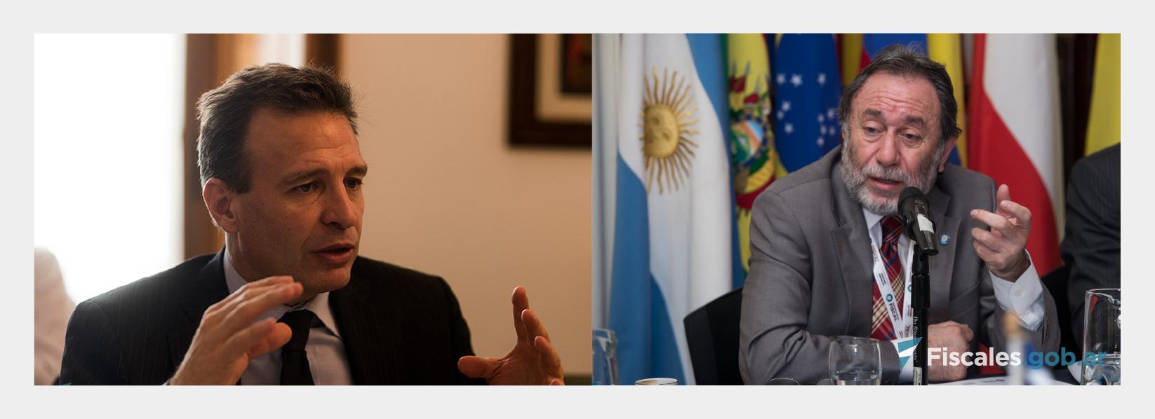Los fiscales Dante Vega y Jorge Auat analizaron el resultado del histórico juicio que comenzó el 17 de febrero de 2014 y culminó el 26 de julio de 2017. -