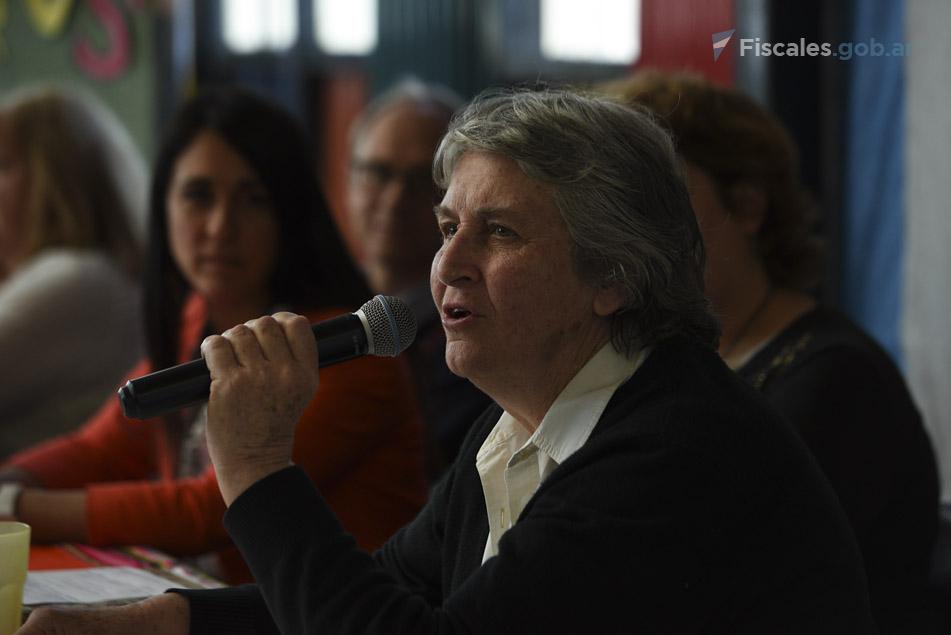 La anfitriona, Marta Garaycochea, coordina el Centro Comunitario Integral Nuestra Señora de Luján. - Foto: Claudia Conteris/ Ministerio Público Fiscal/www.fiscales.gob.ar