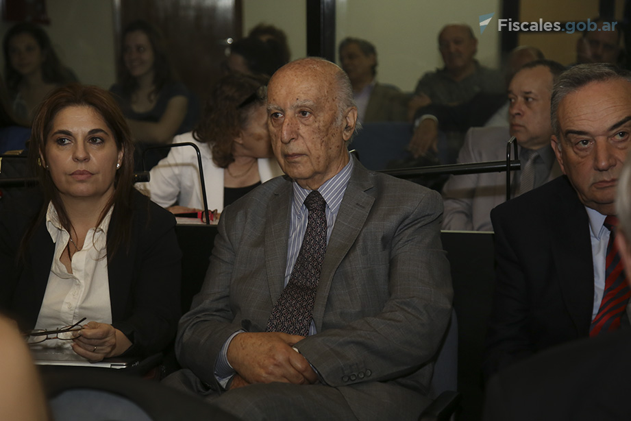 """Los acusados Rubén Beraja y Jorge """"Fino"""" Palacios. - Foto: Matías Pellón/ Ministerio Público Fiscal/www.fiscales.gob.ar"""