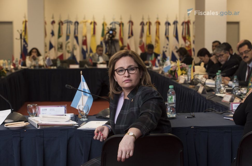 Kenia Porcell Díaz, procuradora general de Panamá, a cargo de la presidencia de AIAMP. - Foto: Claudia Conteris/ Ministerio Público Fiscal/www.fiscales.gob.ar