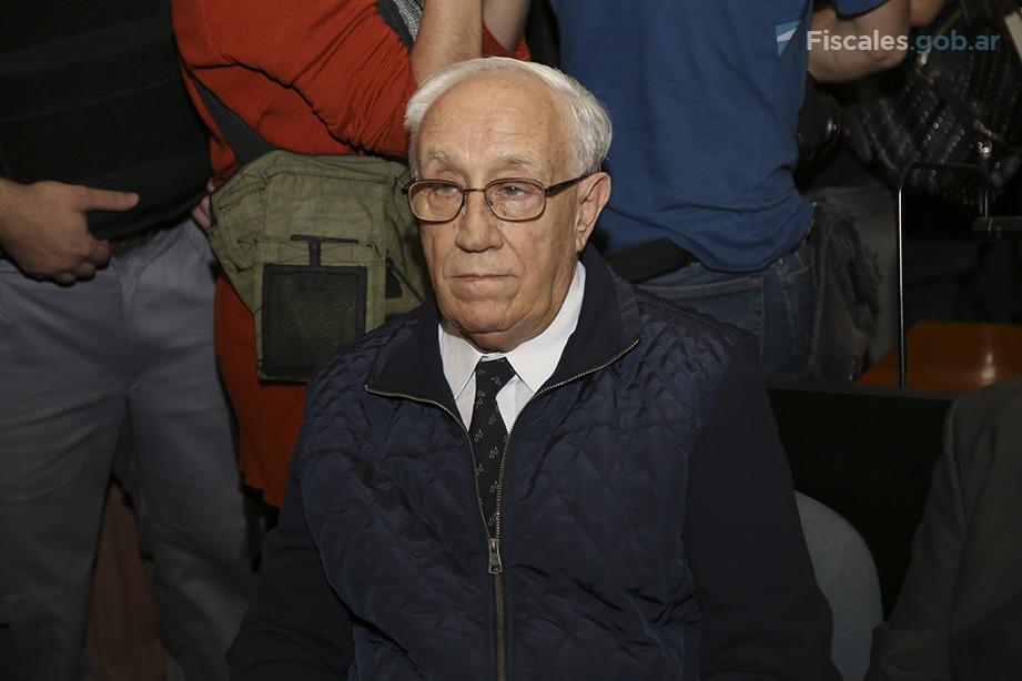 """Jorge Acosta, alias """"El Tigre"""", fue uno de los 29 sentenciados a prisión perpetua.  - Foto: Matías Pellón/ Ministerio Público Fiscal/www.fiscales.gob.ar"""