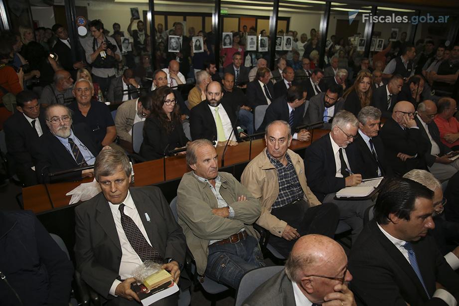 54 acusados llegaron al final del debate, que había comenzado con 68 en 2012. - Foto: Matías Pellón/ Ministerio Público Fiscal/www.fiscales.gob.ar