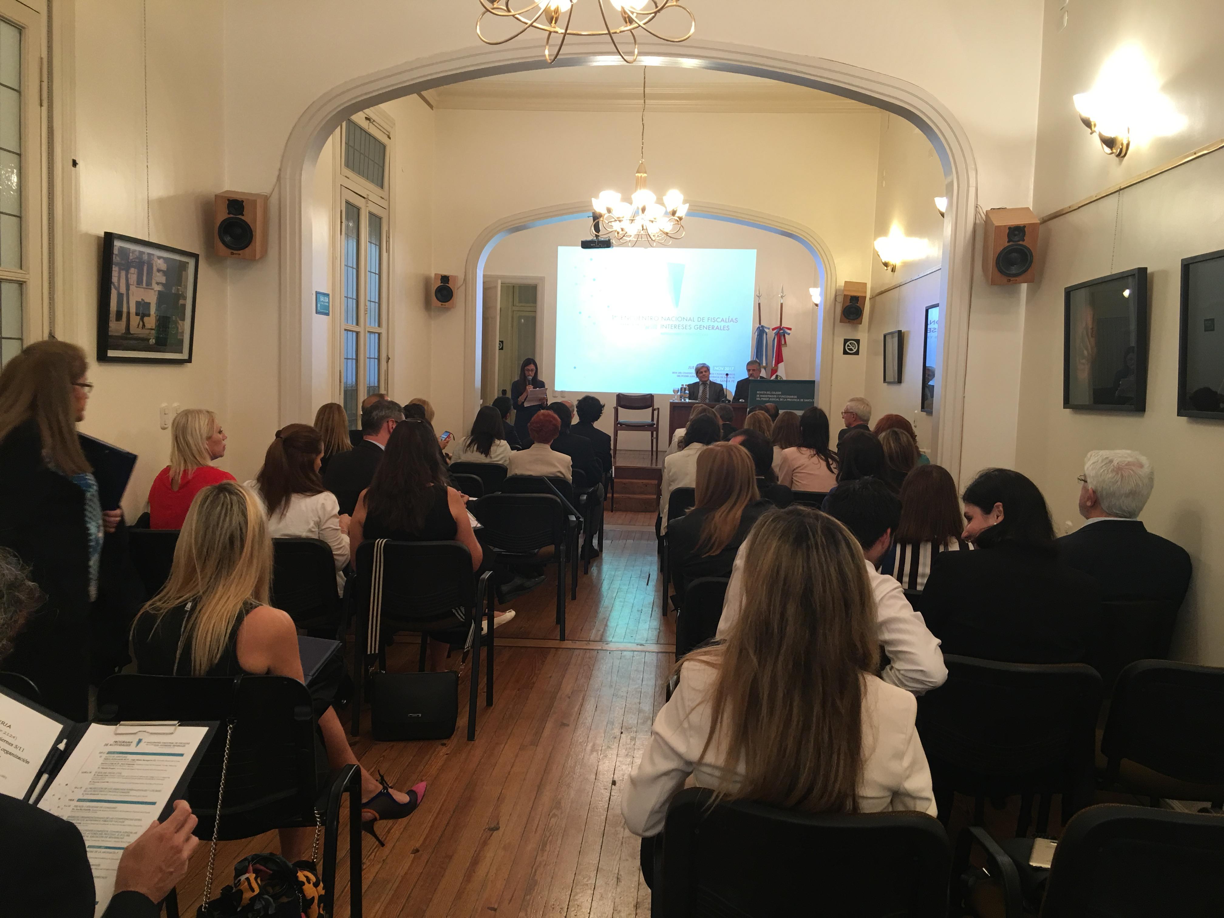El encuentro se celebró el 2 y 3 de noviembre.  - Foto: Colegio de Magistrados y Funcionarios del Poder Judicial de la Provincia de Santa Fe - http://magistrados-santafe.org.ar
