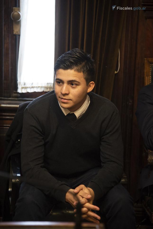 El policía Ricardo Gabriel Ayala llegó al juicio acusado de tentativa de homicidio. - Foto: Claudia Conteris/ Ministerio Público Fiscal/www.fiscales.gob.ar