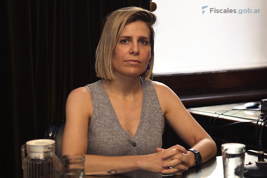 La fiscal María Luz Castany representó al MPF en el debate.  - Foto: Matías Pellón/ Ministerio Público Fiscal/www.fiscales.gob.ar