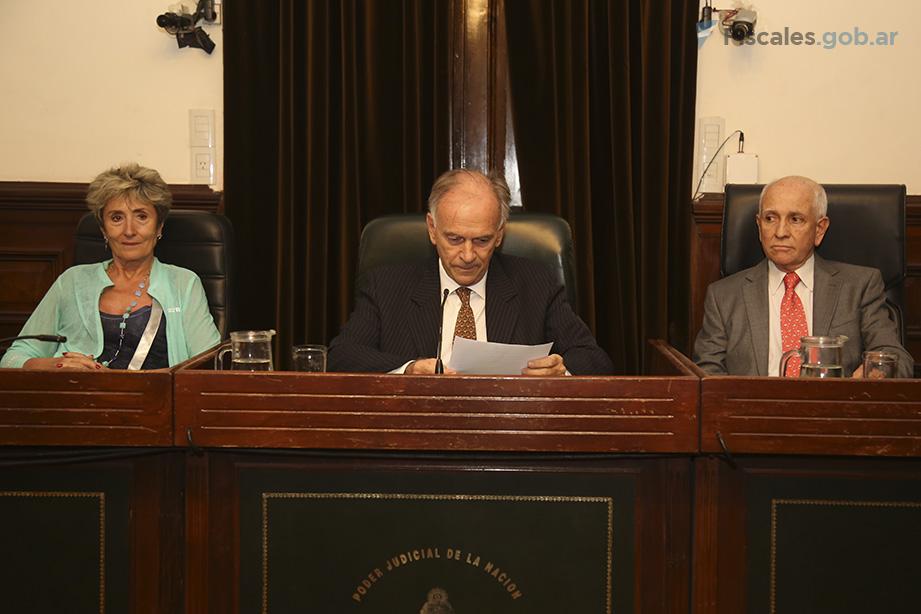 El TOC 8, durante la lectura del veredicto. - Foto: Matías Pellón/ Ministerio Público Fiscal/www.fiscales.gob.ar