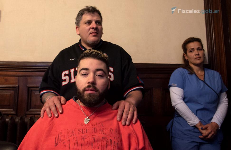 Lucas Cabello fue baleado en noviembre de 2015. Las graves heridas le causaron una cuadriplejia.