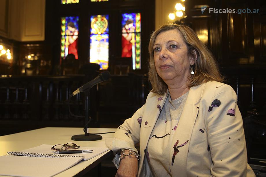 La fiscal que intervino en el juicio, Irma Adriana García Netto. - Foto: Matías Pellón/ Ministerio Público Fiscal/www.fiscales.gob.ar