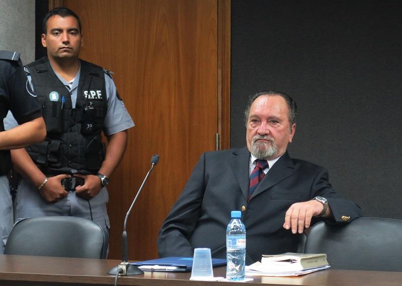 Demarchi durante el juicio en el que fue condenado a perpetua. -