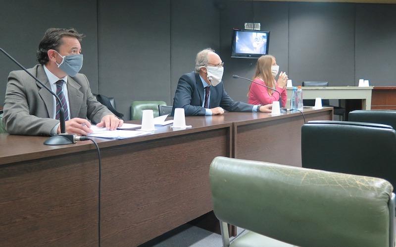 Los representantes del MPF asistieron a la audiencia. -