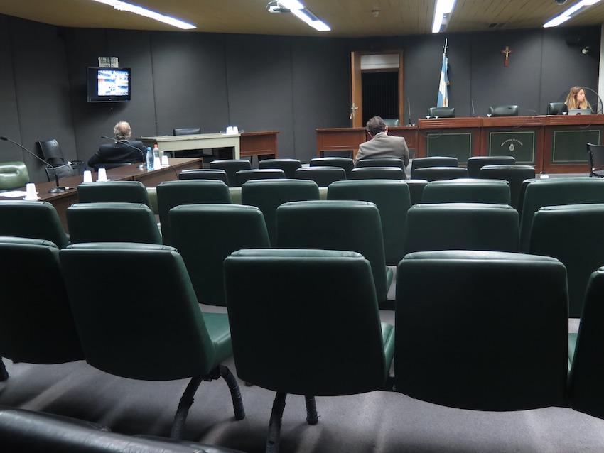 La sala del TOF, casi vacía. -