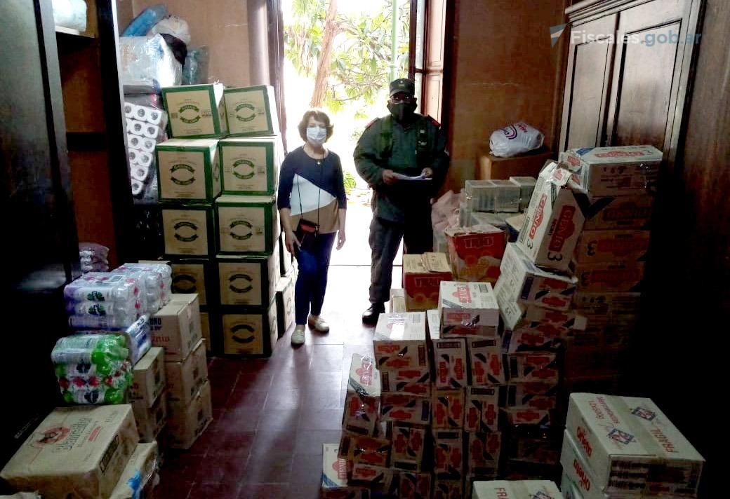 Una entrega de mercadería en Jujuy. En esta provincia se firmaron 50 acuerdos plenos. - Fotos: Unidad Fiscal Jujuy