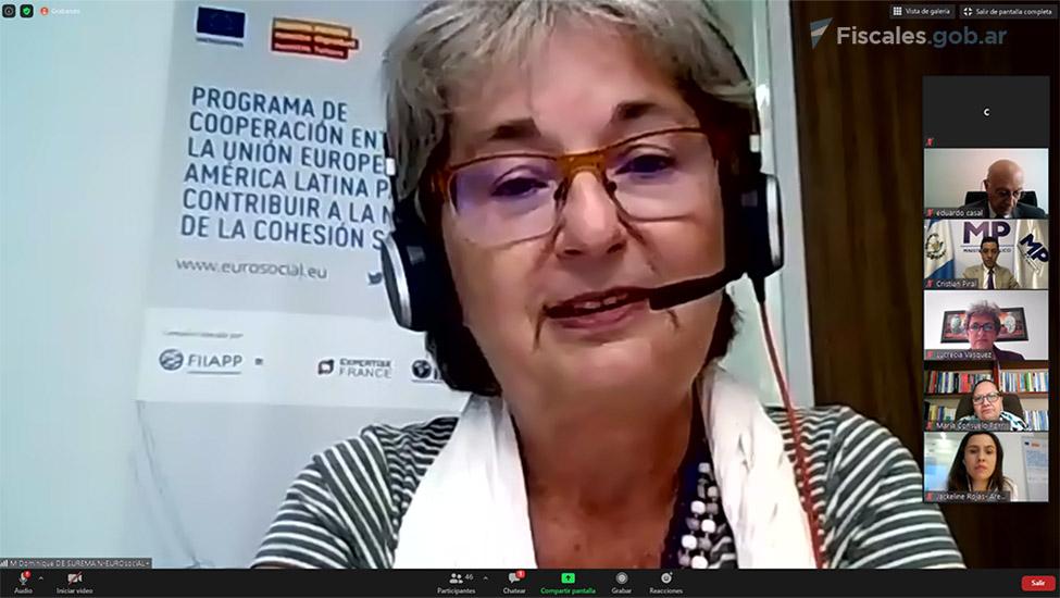 Dominique de Suremain, coordinadora del Área de Género de EUROsociAL+. -