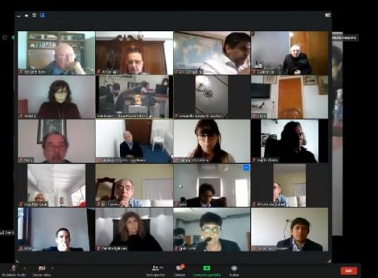 La partes intervinieron en el proceso conectadas por videoconferencia. La transmisión oficial se realizó a través del canal de Youtube de La Retaguardia.  -