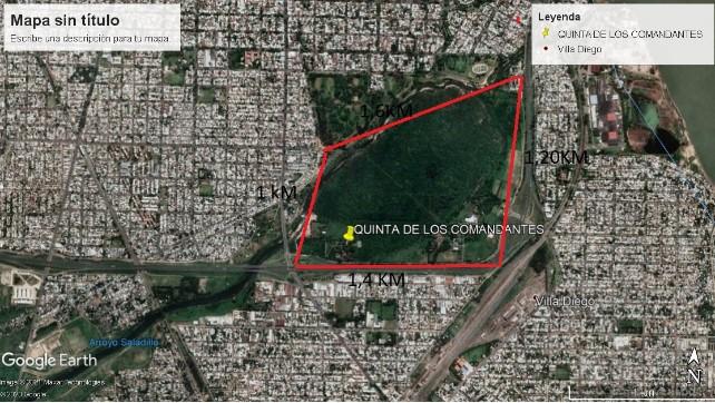 En la propuesta de trabajo, el EAAF presentó el mapa con la demarcación del área a estudiar.  -