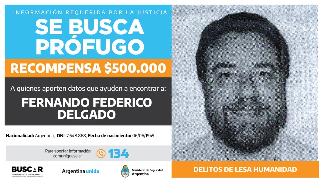 Buscado por la justicia federal de San Juan. -