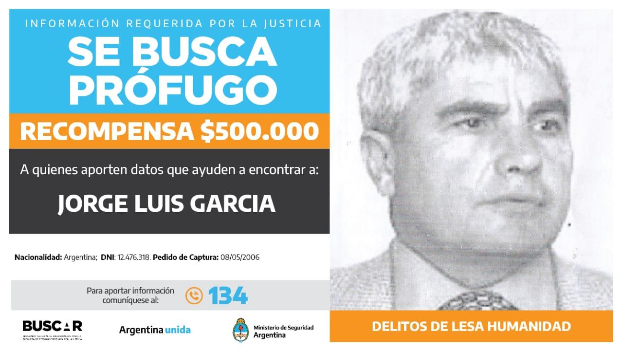 Buscado por la justicia federal de La Plata. -