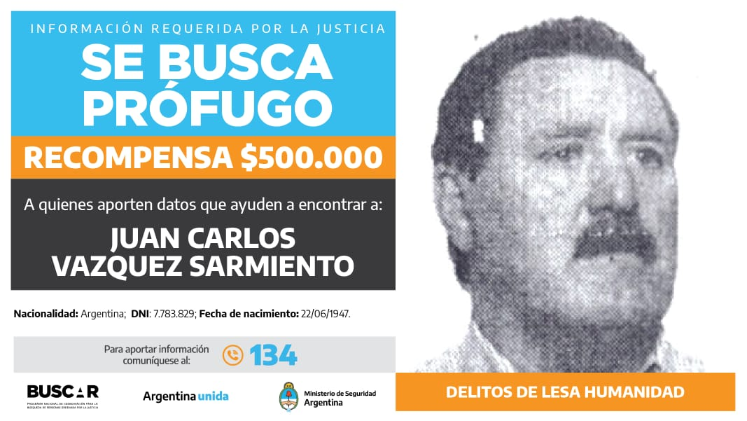 Buscado por la justicia federal de la Ciudad Autónoma de Buenos Aires. -