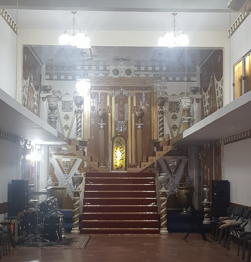 El interior del templo ubicado en San Justo. -