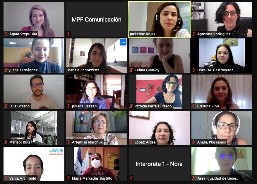 La reunión se llevó a cabo a través de videoconferencia.  -