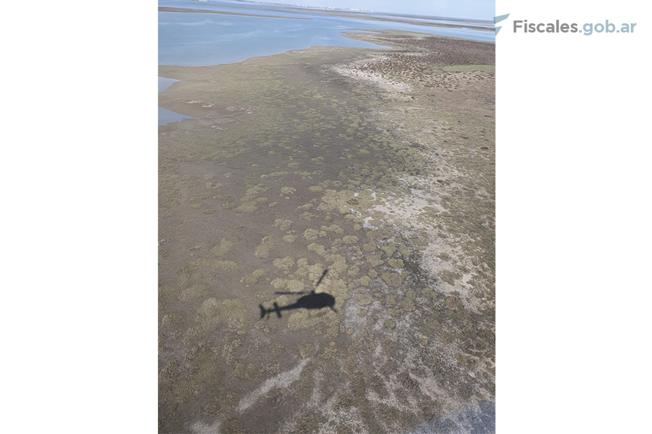 El cangrejal de Villarino Viejo donde fue hallado el cuerpo de Facundo. - Foto: equipo fiscal.