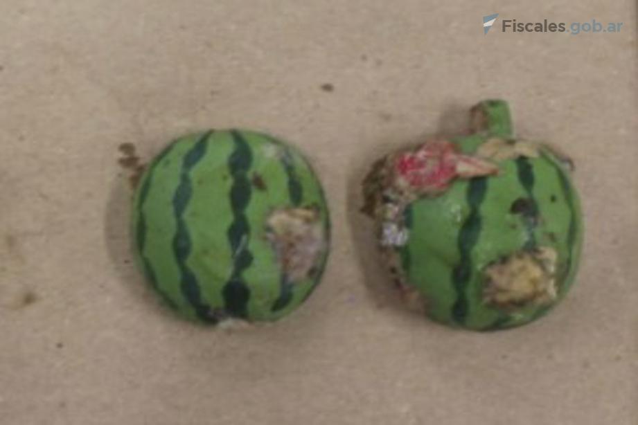 Un amuleto igual al que portaba Facundo -un regalo de su abuela- fue hallado en un montículo de basura durante el allanamiento al puesto de vigilancia de Teniente Origone.  - Foto: equipo fiscal.